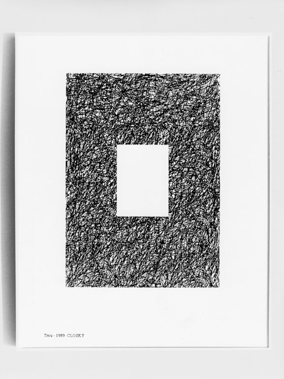 Claude Closky, 'Trou [Hole]', 1989, laser print on paper, 29,7 x 21 cm.